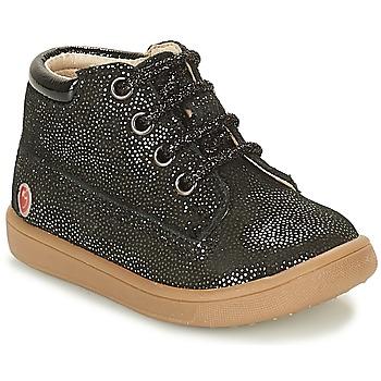 Chaussures Fille Baskets montantes GBB NINON Noir pailleté