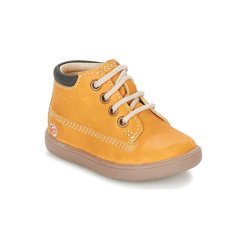 Chaussures Garçon Baskets montantes GBB NORMAN Marron / Moutarde