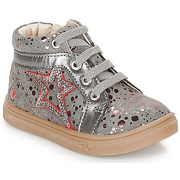 Chaussures Fille Baskets montantes GBB NAVETTE GRis / Rose