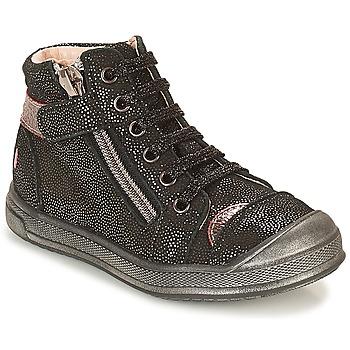 Chaussures Fille Baskets montantes GBB DESTINY Noir pailleté