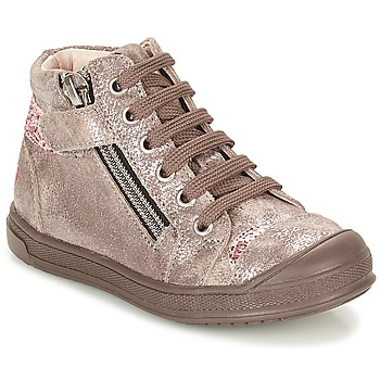 Chaussures Fille Baskets montantes GBB DESTINY Taupe / Bronze