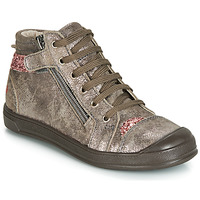 Chaussures Fille Baskets montantes GBB DESTINY Taupe / Rose