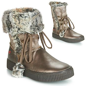 Chaussures Fille Bottes ville GBB NOUSTIK Bronze