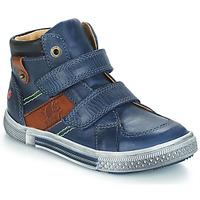 Chaussures Garçon Boots GBB RENDAL Marine / Marron