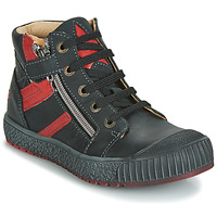 Chaussures Garçon Baskets montantes GBB RAMBOUTAN Noir / Rouge