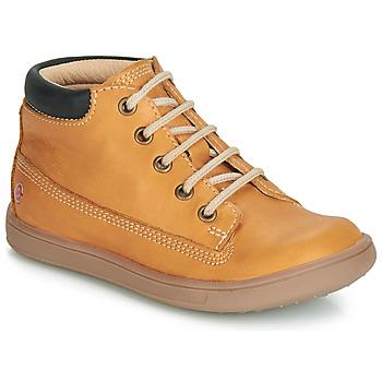 Chaussures Garçon Baskets montantes GBB NORMAN Ocre