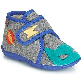 Chaussures Garçon Chaussons GBB SUPER DOUDOU Gris / Bleu