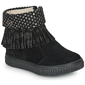 Chaussures Fille Boots Catimini PERETTE CTV NOIR/DPF ESTER