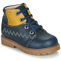 Chaussures Garçon Boots Catimini CHARLY VTU MARINE-MOUTARDE DPF/2900