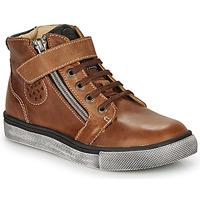 Chaussures Garçon Baskets montantes Catimini TOBBY NUB MARRON DPF/TOMMY
