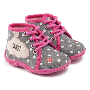 Chaussures Fille Chaussons GBB BUBBLE TTX GRIS-ROSE DTX/AMIS
