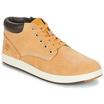 Chaussures Enfant Baskets montantes Timberland DAVIS SQUARE LEATHER CHK Marron / Blé