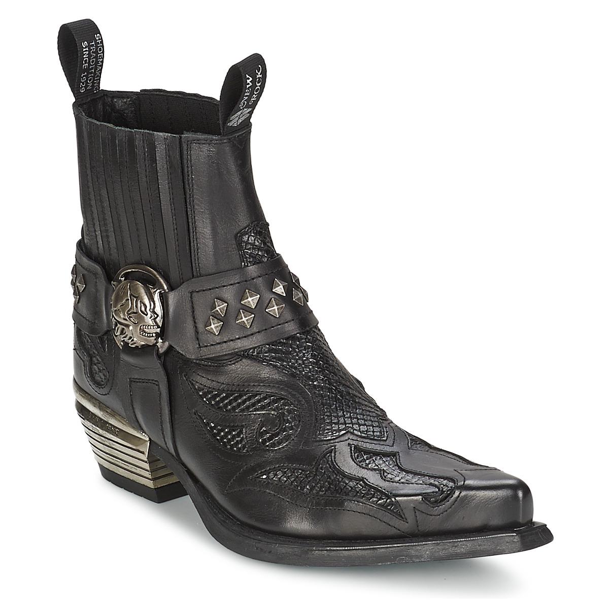new rock preto noir chaussure pas cher avec. Black Bedroom Furniture Sets. Home Design Ideas
