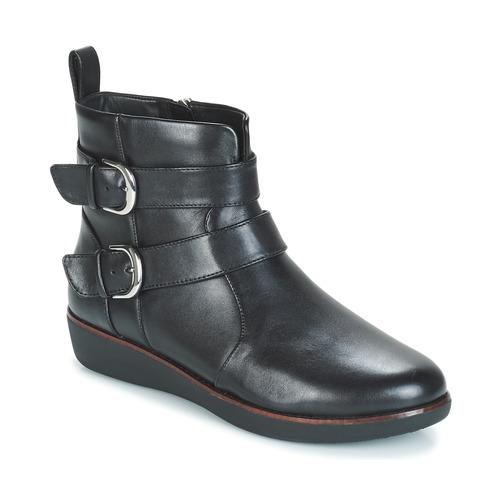 Chaussures Femme Boots FitFlop LAILA DOUBLE BUCKLE Noir