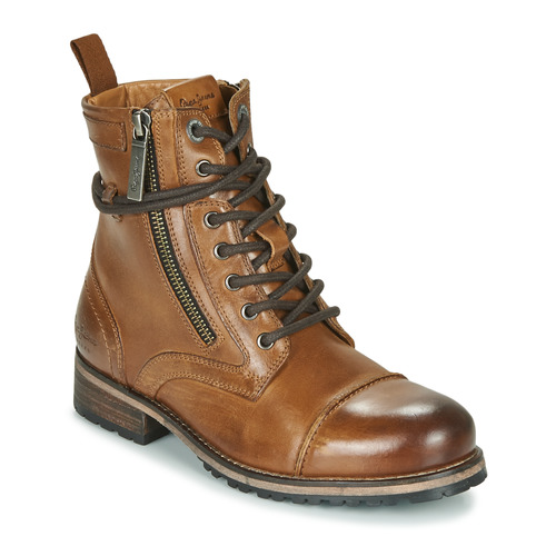 Chaussures Femme Boots Pepe jeans Melting Marron