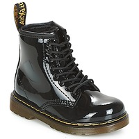 Chaussures Fille Boots Dr Martens 1460 PATENT TODDLER Noir