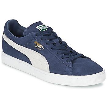 Chaussures Air max tnBaskets basses Puma SUEDE CLASSIC Bleu / Blanc