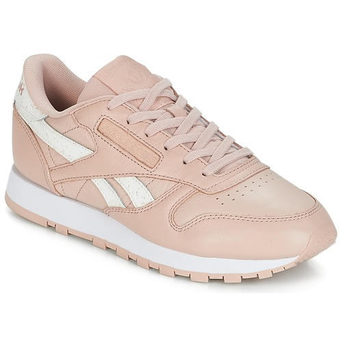aa25ca91c9dcd Chaussures Femme Baskets basses Reebok Classic CLASSIC LEATHER Rose   blanc