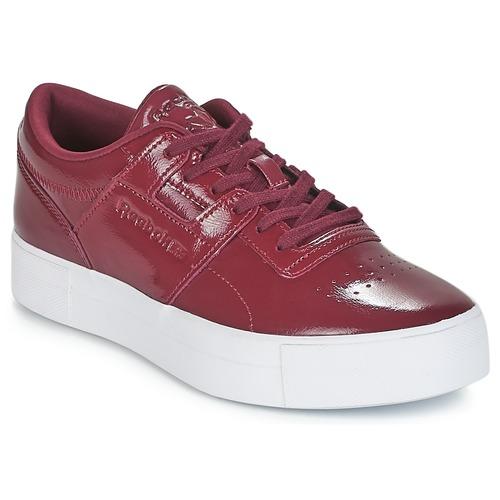 38a449923d3f5 Chaussures Femme Baskets basses Reebok Classic WORKOUT LO FVS Bordeaux