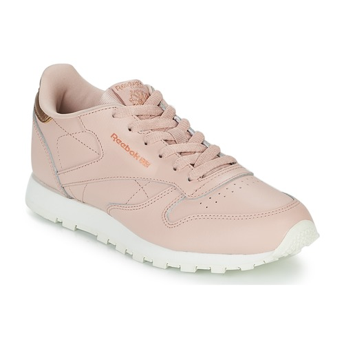 huge selection of 28216 e9bc2 Chaussures Fille Baskets basses Reebok Classic CLASSIC LEATHER J Rose