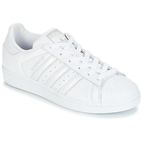 Chaussures Femme Baskets basses adidas Originals SUPERSTAR W Blanc / Argenté