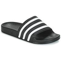 Chaussures Baskets basses adidas Originals ADILETTE Noir / blanc