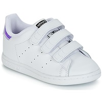 Chaussures Fille Baskets basses adidas Originals STAN SMITH CF I Blanc / Argenté