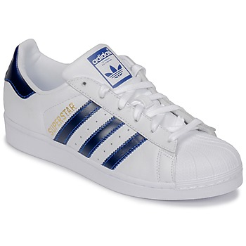 Chaussures Baskets basses adidas Originals SUPERSTAR Blanc / bleu