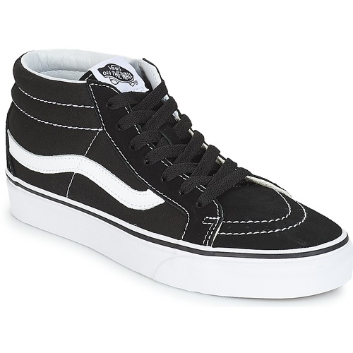 chaussure vans montante blanche