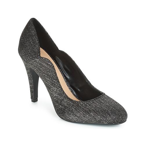Chaussures Femme Escarpins Moony Mood JANNEE Noir / Argent