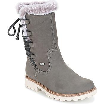 Chaussures Femme Bottes ville Rieker  GRIS