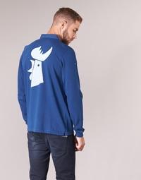 Vêtements Homme Polos manches longues Serge Blanco POLO France Bleu