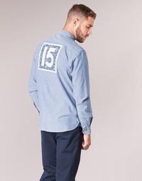 Vêtements Homme Chemises manches longues Serge Blanco 15 DOS Bleu