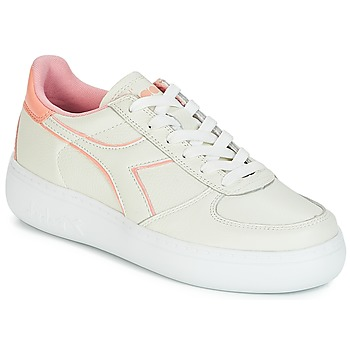 Chaussures Femme Baskets basses Diadora B.ELITE L WIDE WN Ecru / Rose