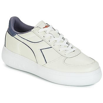 Chaussures Femme Baskets basses Diadora B.ELITE L WIDE WN Ecru / Gris