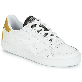 Chaussures Femme Baskets basses Diadora B.ELITE WN Blanc / Or