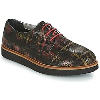 Chaussures Femme Derbies Ippon Vintage JAMES SCOTTISH Noir / Rouge
