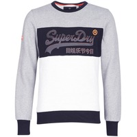 Vêtements Homme Sweats Superdry VINTAGE LOGO PANEL CREW Gris / Blanc