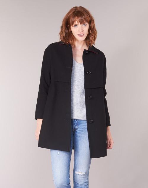 Vêtements Femme Manteaux Sisley FAREDA Noir