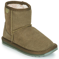Chaussures Fille Boots EMU WALLABY MINI Kaki