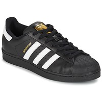 Chaussures Baskets basses adidas Originals SUPERSTAR FOUNDATIO Blanc / noir