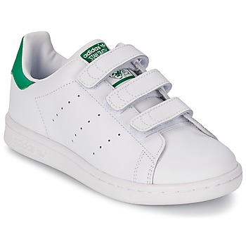 Chaussures Air max tnGarçon Baskets basses adidas Originals STAN SMITH CF C Blanc / Vert