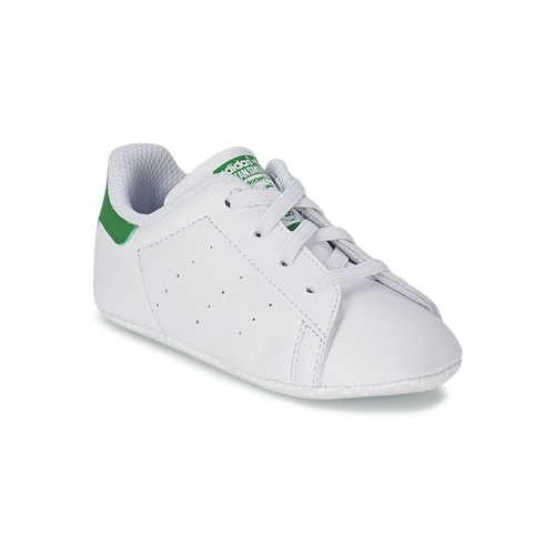 Chaussures Enfant Baskets basses adidas Originals STAN SMITH CRIB Blanc / vert