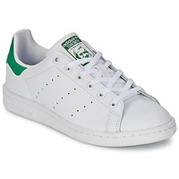 Chaussures Enfant Baskets basses adidas Originals STAN SMITH J Blanc / Vert