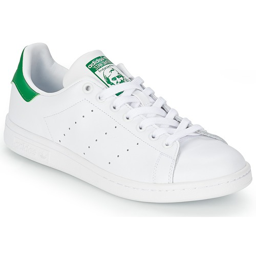 los angeles 167bb f9163 Chaussures Baskets basses adidas Originals STAN SMITH Blanc   vert