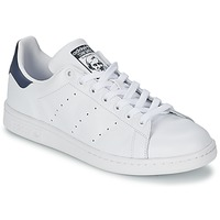Chaussures Baskets basses adidas Originals STAN SMITH Blanc / bleu