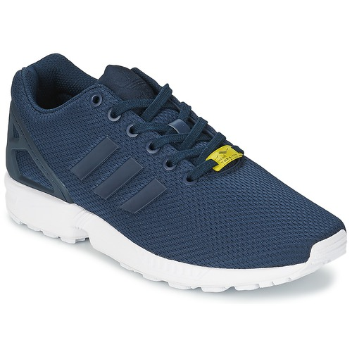 latest design quality design huge selection of adidas Originals ZX FLUX Bleu / Blanc - Chaussure pas cher avec ...