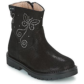 Chaussures Fille Boots Garvalin COSMOPOLITAN SERRAJE Noir / Argent