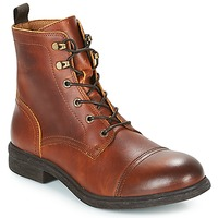 Chaussures Homme Boots Selected TERREL LEATHER BOOT Cognac