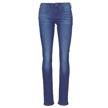 Vêtements Femme Jeans droit G-Star Raw MIDGE SADDLE MID STRAIGHT Bleu Medium Aged